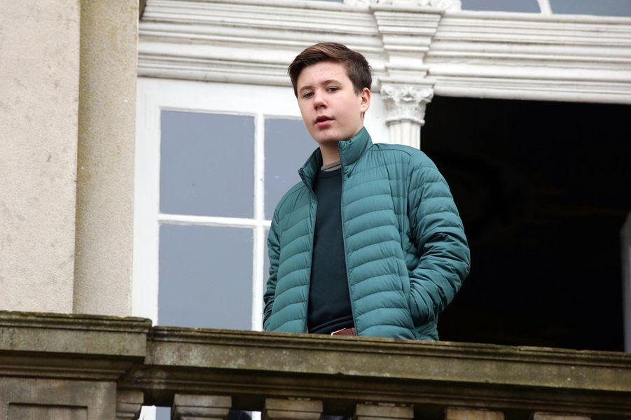 Le prince Christian de Danemark (ici le 3 novembre) va fêter ses 15 ans en 2020