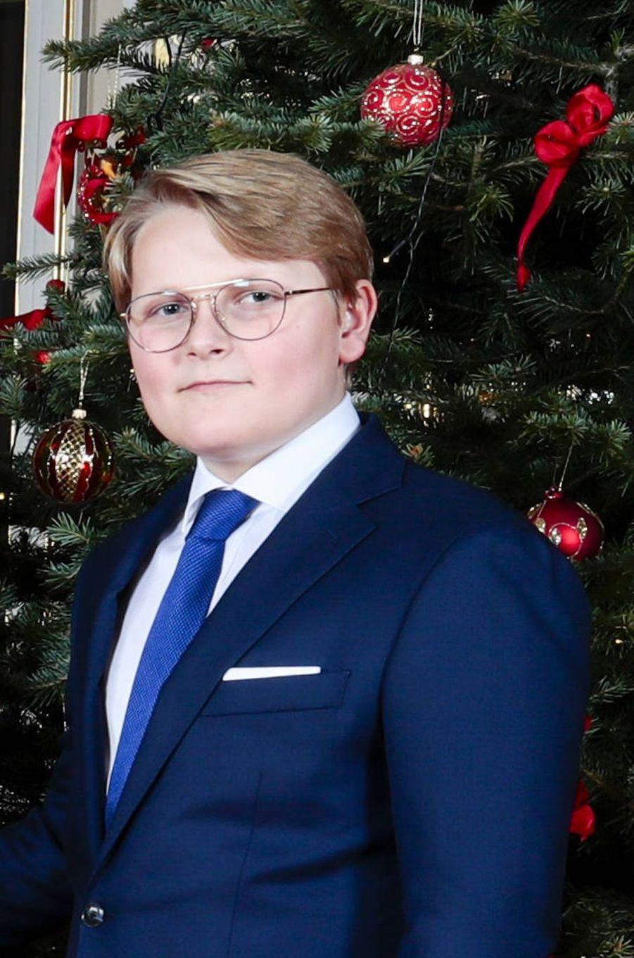 Le prince Sverre Magnus de Norvège (ici le 16 décembre 2019) va fêter ses 15 ans en 2020