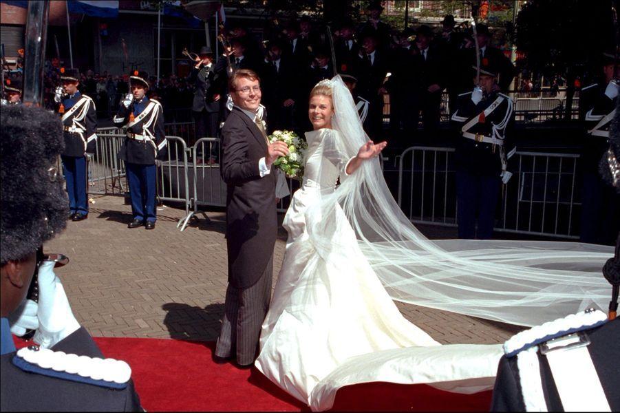 Le prince Constantjin des Pays-Bas et la princesse Laurentien (ici le 19 mai 2001) vont fêter leurs 20 ans de mariage