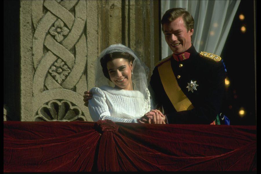 Le grand-duc Henri de Luxembourg et la grande-duchesse Maria Teresa (ici le 14 février 1981) vont fêter leurs 40 ans de mariage
