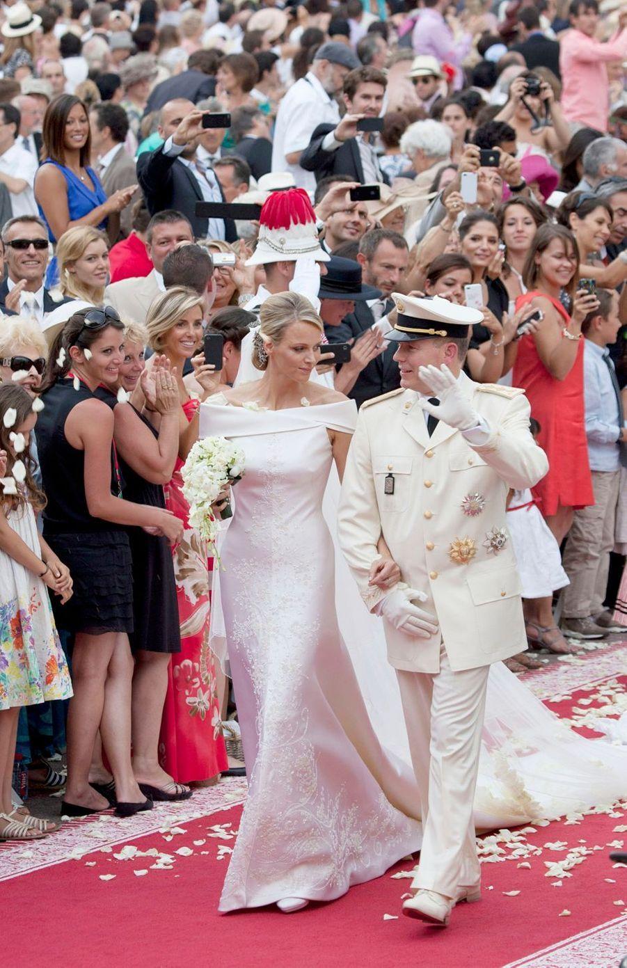 Le prince Albert II de Monaco et la princesse Charlène (ici le 2 juillet 2011) vont fêter leurs 10 ans de mariage
