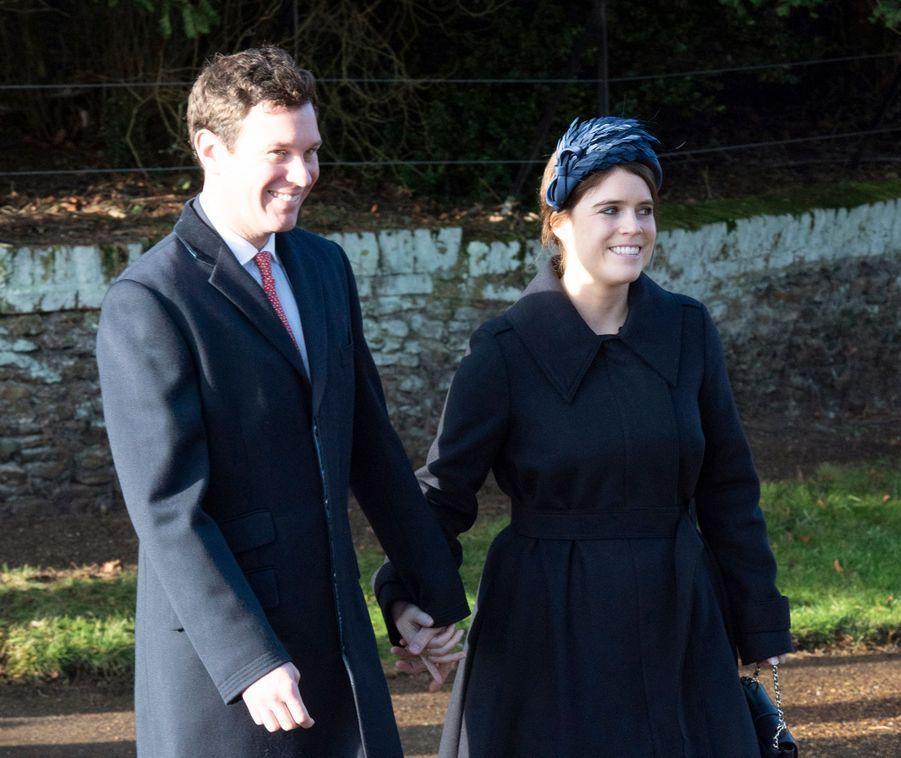 La princesse Eugenie d'York et Jack Brooksbank (ici le 25 décembre 2019) vont avoir en 2021 leur premier enfant