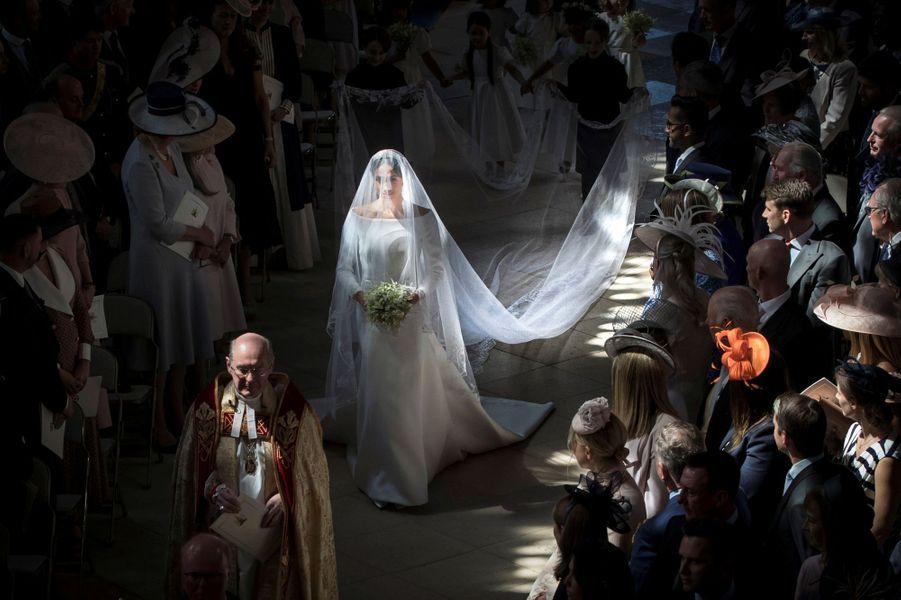 Meghan Markle, le jour de son mariage, le 19 mai 2018