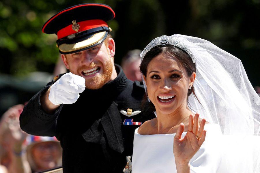 Le prince Harry et de Meghan Markle, le jour de leur mariage, 19 mai 2018