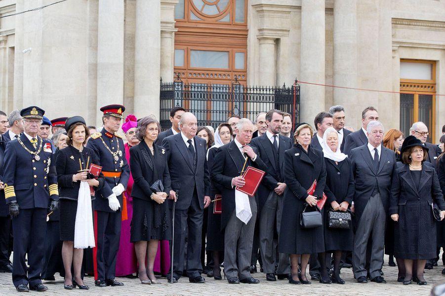 Les Royals aux obsèques de l'ex-roi Michel de Roumanie à Bucarest, le 16 décembre 2017