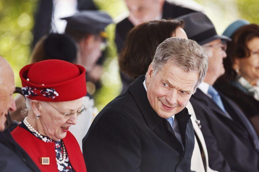 La reine Margrethe II de Danemark à Helsinki, le 1er juin 2017