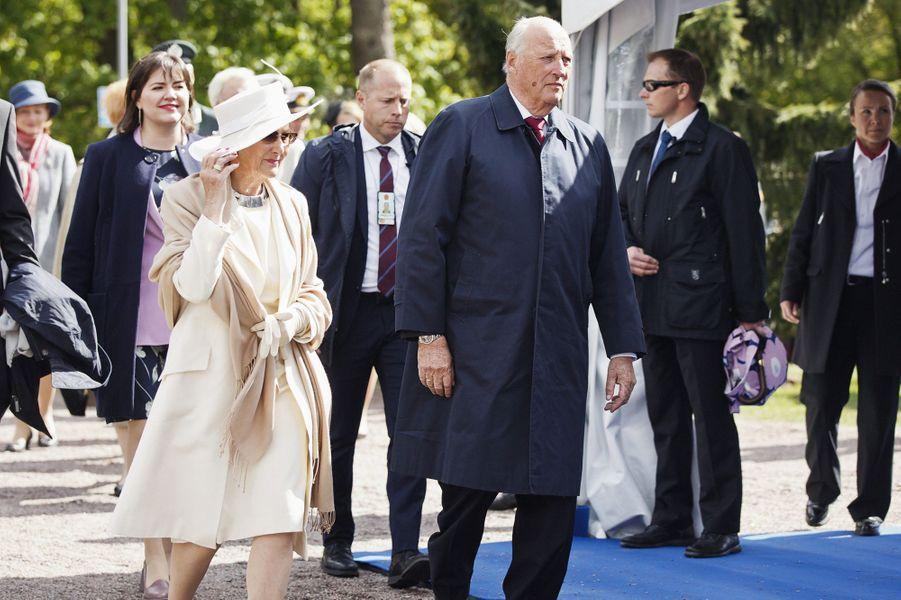 La reine Sonja et le roi Harald V de Norvège à Helsinki, le 1er juin 2017