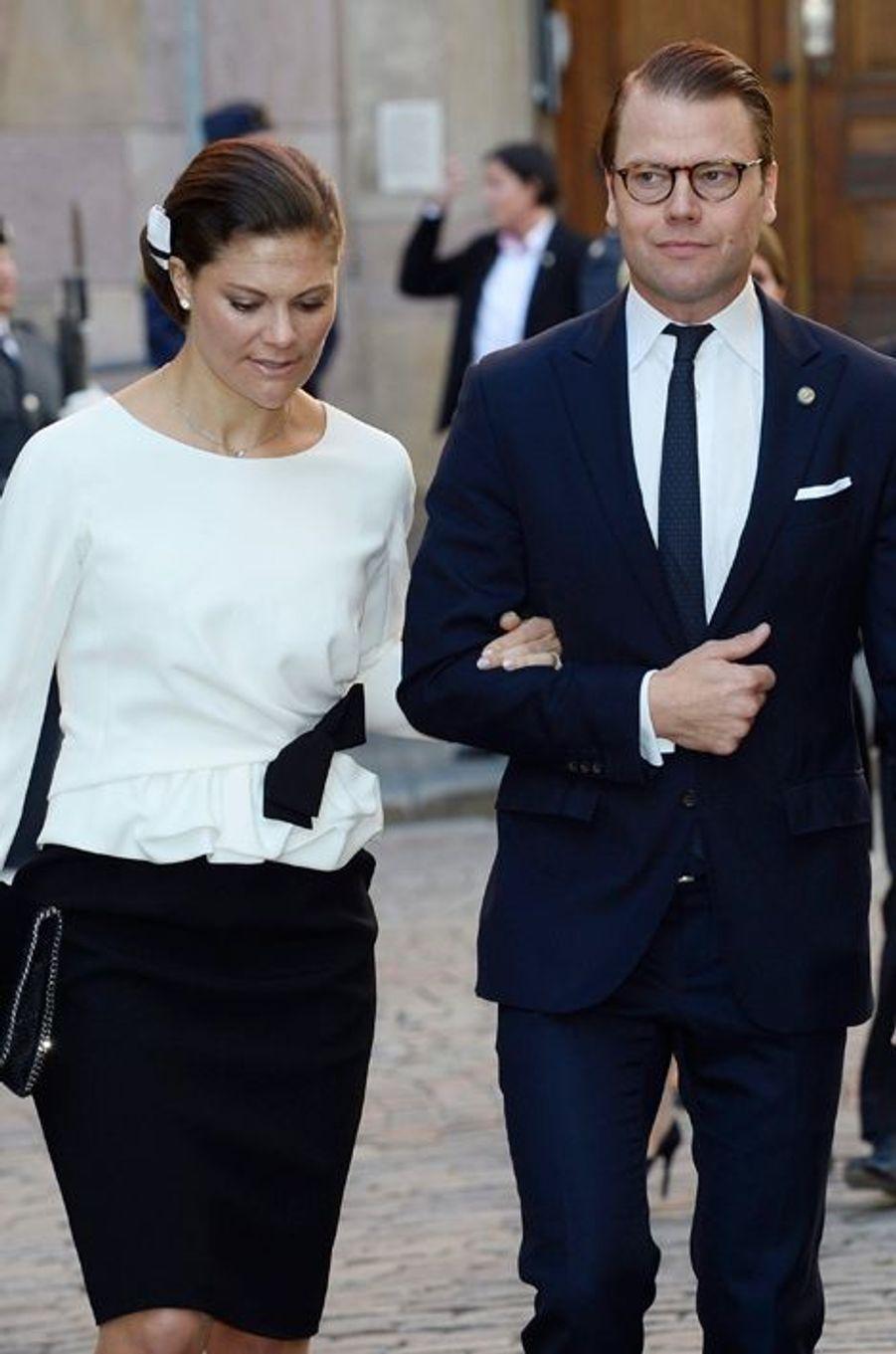 La princesse Victoria et le prince Daniel à la rentrée du Parlement de Suède, le 30 septembre 2014