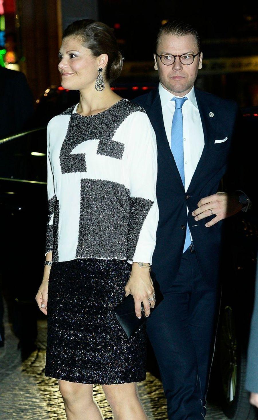 La princesse Victoria et le prince Daniel à la soirée de gala pour la rentrée du Parlement de Suède, le 30 septembre 2014