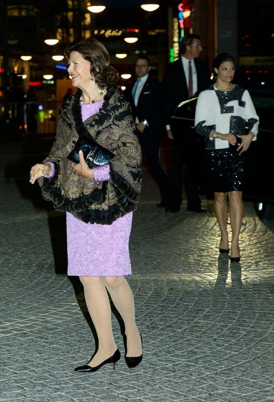 La reine Silvia, la princesse Victoria et le prince Daniel à la soirée de gala pour la rentrée du Parlement de Suède, le 30 septembre 2014