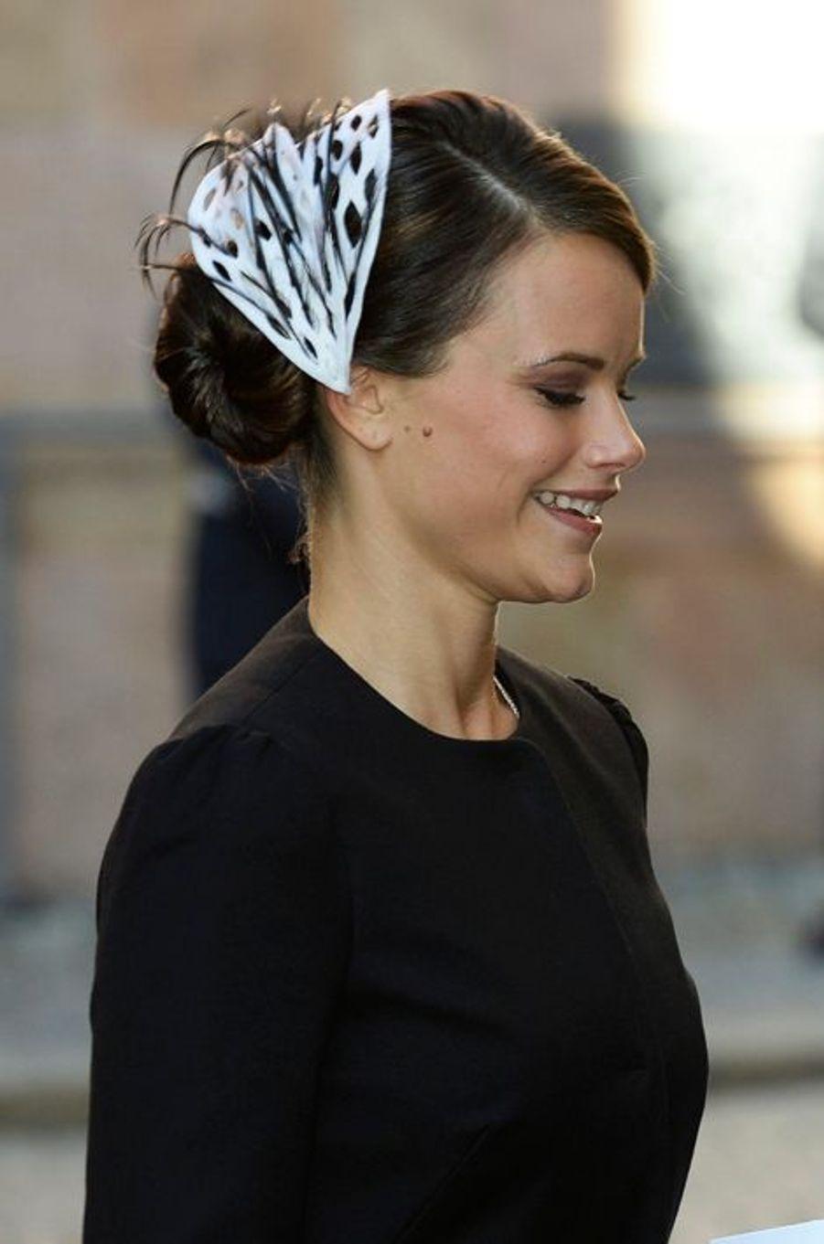 Sofia Hellquist à la rentrée du Parlement de Suède, le 30 septembre 2014