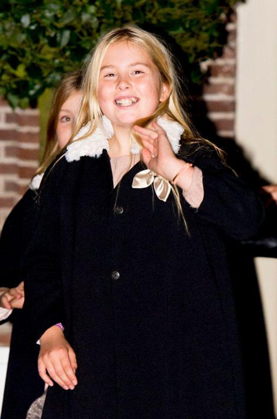 La princesse héritière Catharina-Amalia des Pays-Bas à Apeldoorn le 9 novembre 2014
