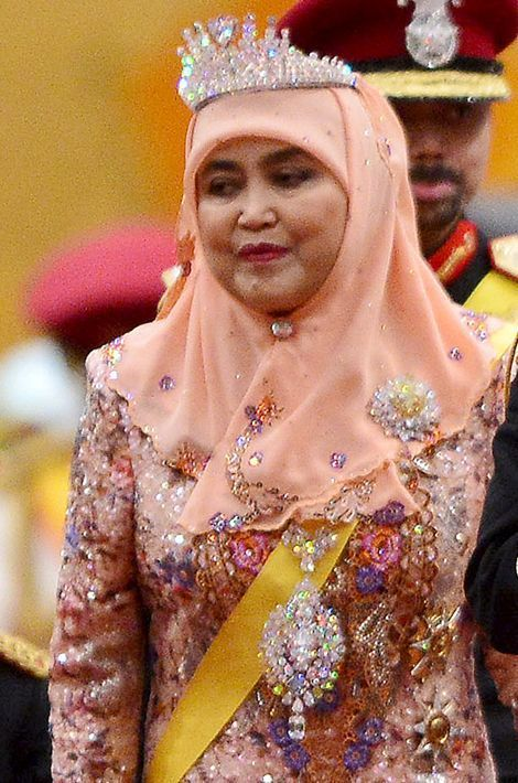 La reine Saleha à Bandar Seri Begawan, le 15 août 2015