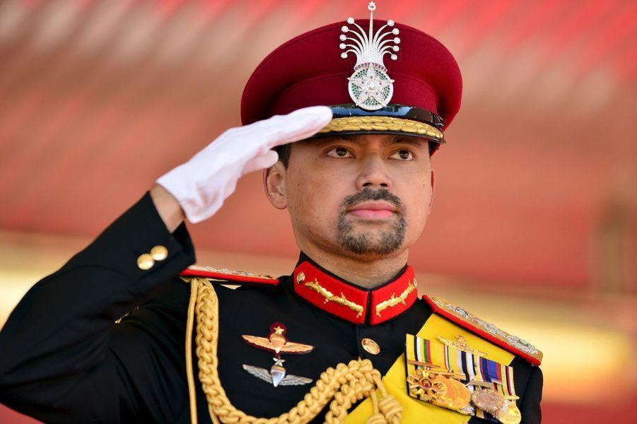 Le prince héritier Al-Muhtadee Billah à Bandar Seri Begawan, le 15 août 2015