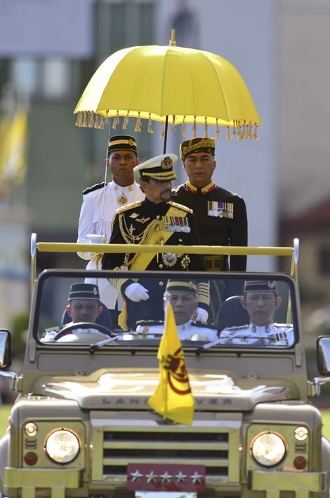 Le sultan de Brunei Hassanal Bolkiah à Bandar Seri Begawan, le 15 août 2015