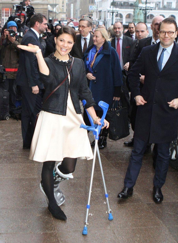 Une jambe cassée n'arrêtera pas Victoria