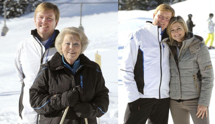 Willem-Alexander avec la reine... et la future reine