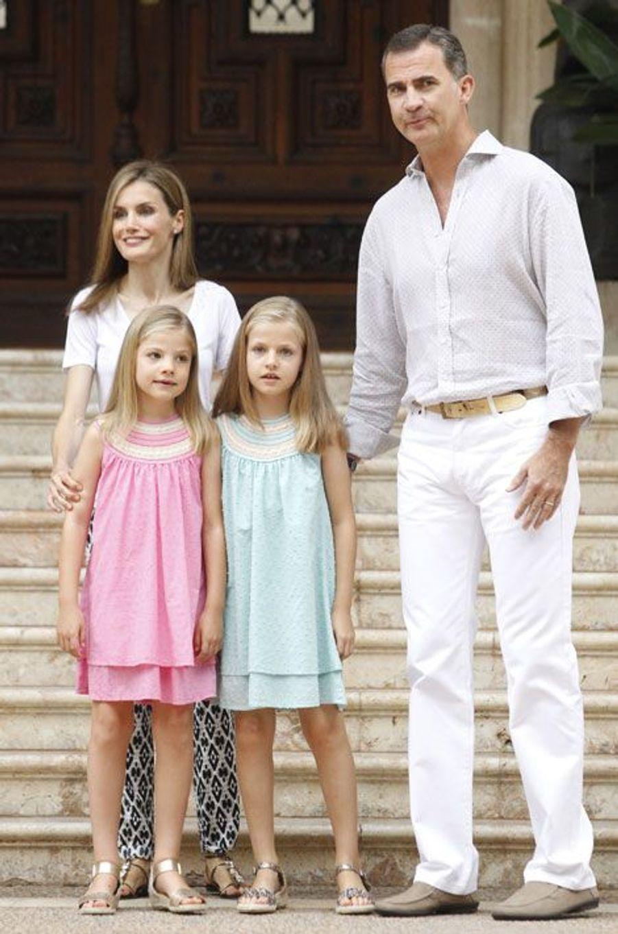 Vacances royales pour la famille d'Espagne