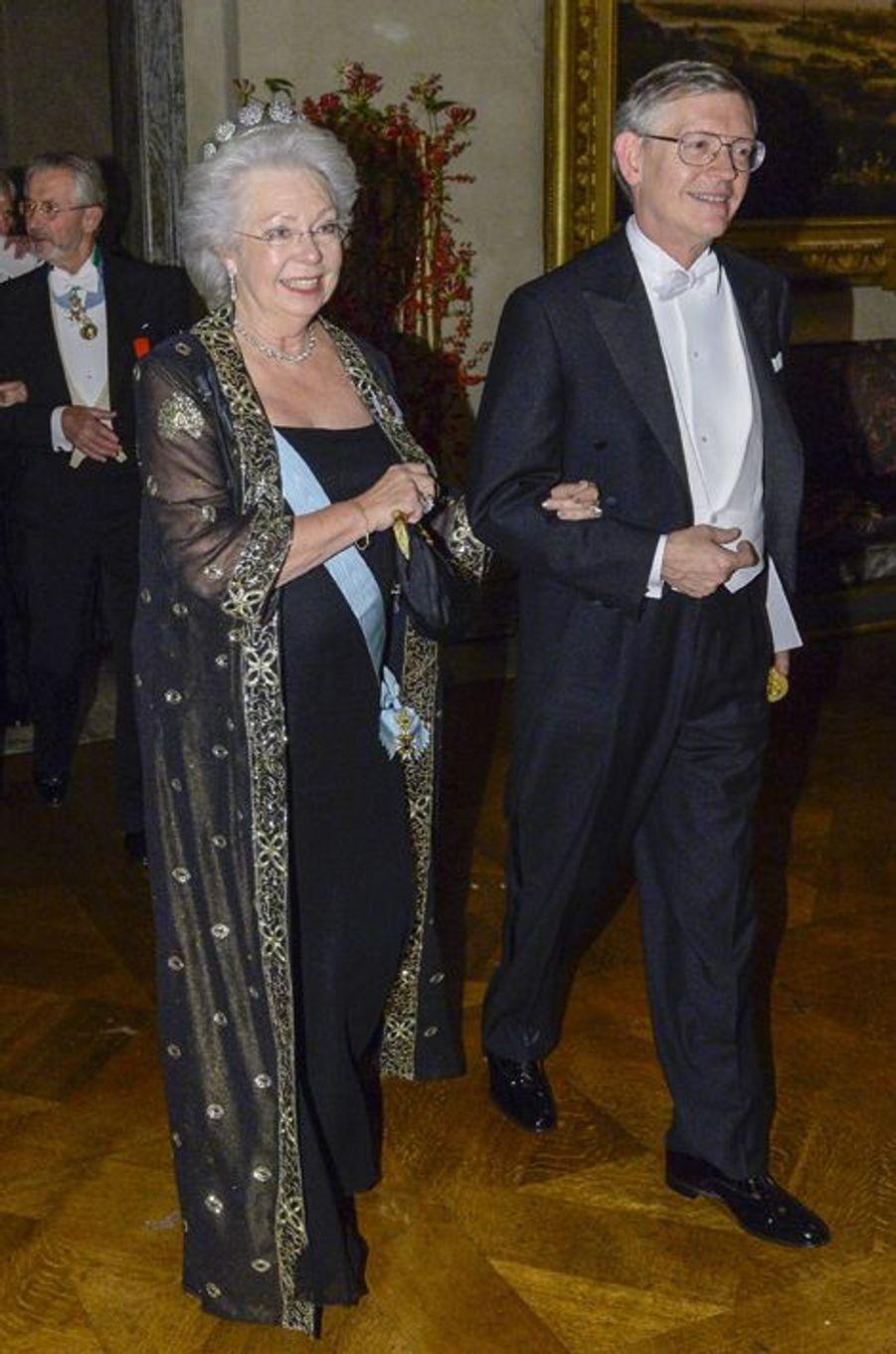 La princesse Christina de Suède au banquet des prix Nobel à Stockholm, le 10 décembre 2014