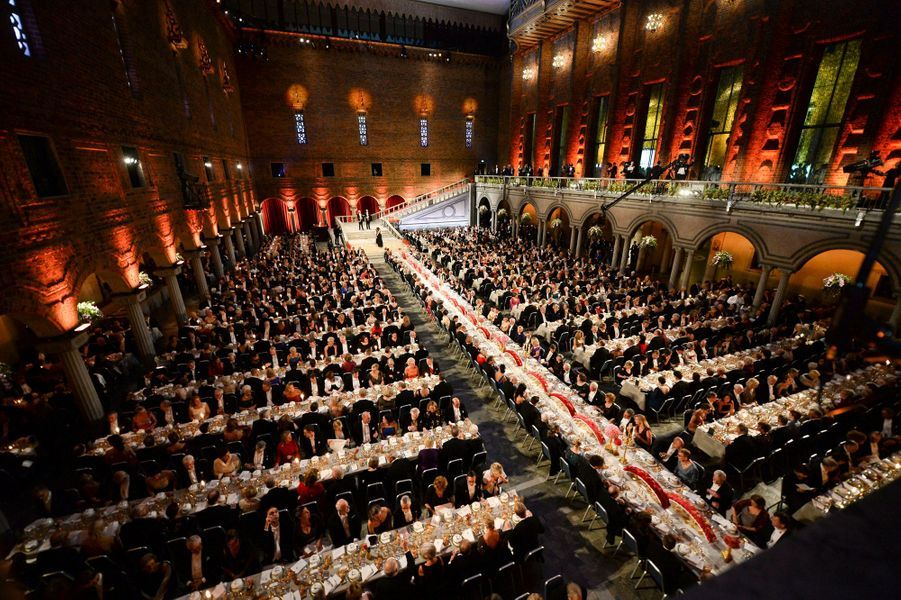 Le banquet des prix Nobel à Stockholm, le 10 décembre 2014