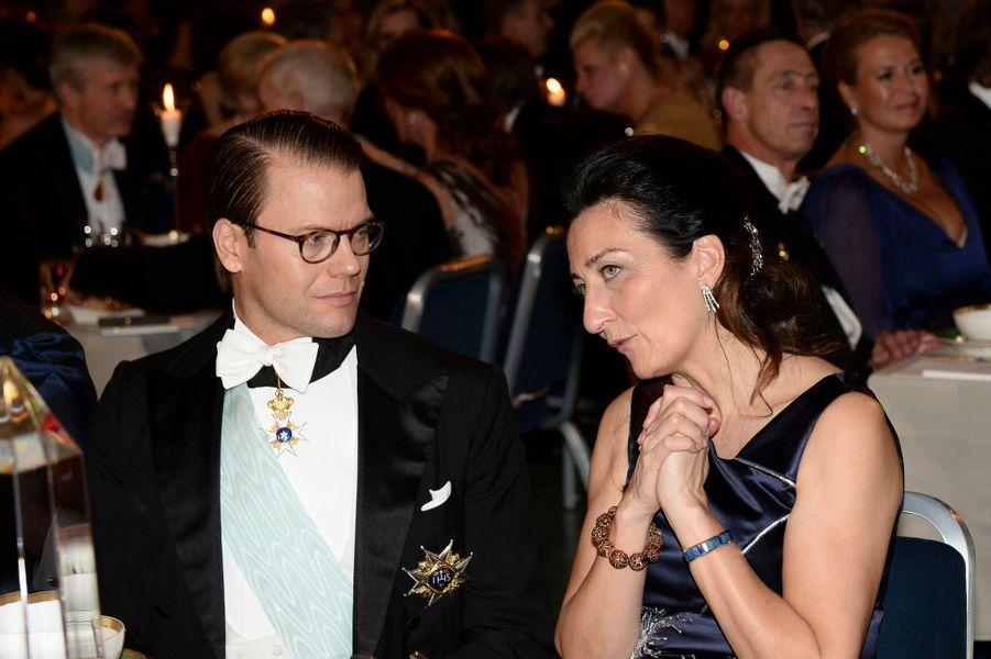 Le prince consort Daniel de Suède au banquet des prix Nobel à Stockholm, le 10 décembre 2014