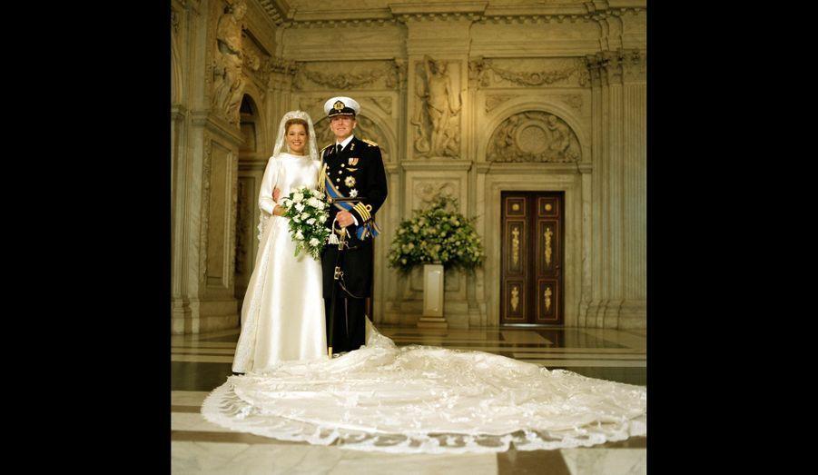 La photo officielle de leur mariage, en 2002