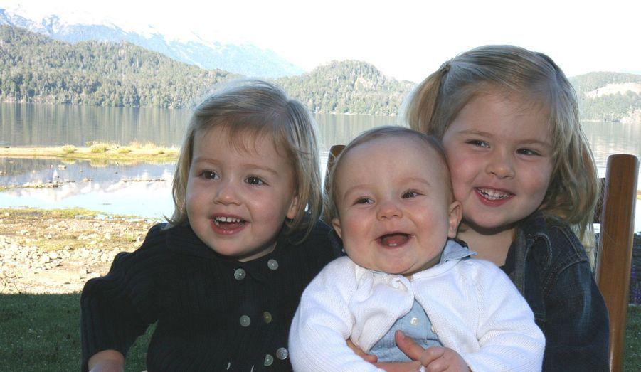Leur trois fillettes, en 2008