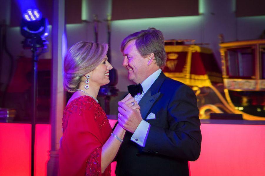 La reine Maxima et le roi Willem-Alexander des Pays-Bas à La Haye, le 29 avril 2017