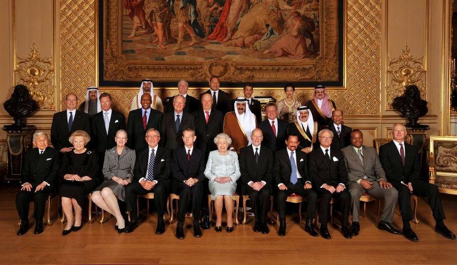 Les têtes couronnées du monde entier se sont rendues à Londres fin mai, à l'invitation de la reine, pour fêter ses 60 années de règne.