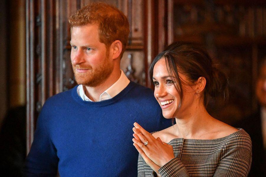 Harry et Meghanà Cardiff le 18 janvier 2018