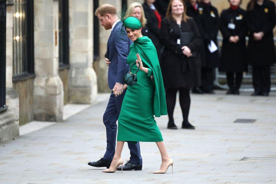 Harry et Meghan lors de leur dernière apparition officielle en tant que membres de la famille royale à Westminster pour la journée du Commonwealth, le9 mars 2020