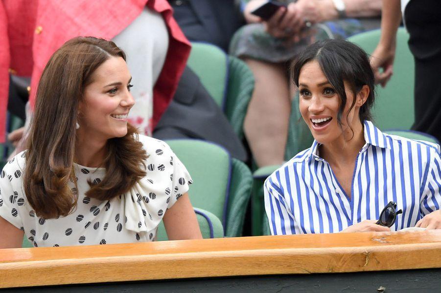 Kate et Meghan à Wimbledon le 14 juillet 2018