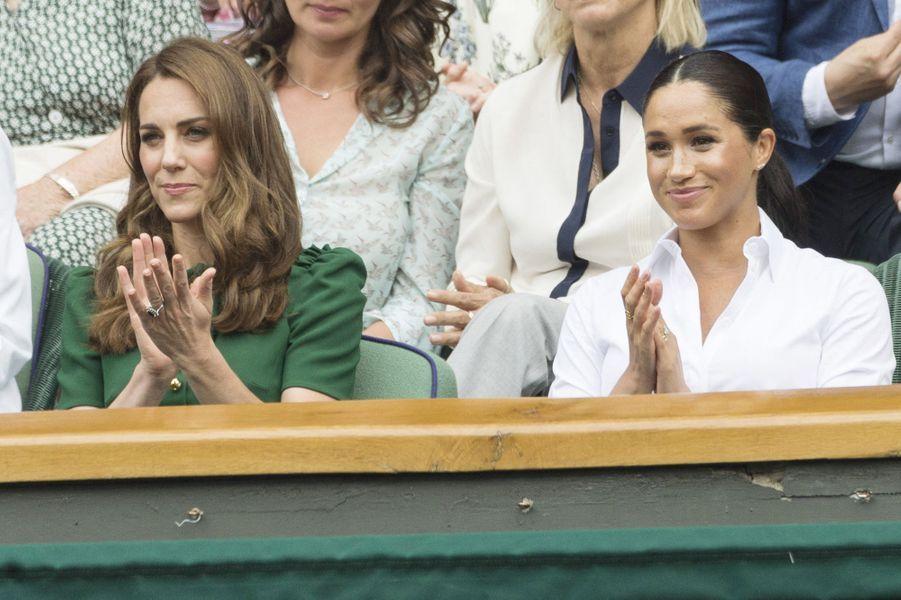 Kate et Meghan à Wimbledon le 13 juillet 2019