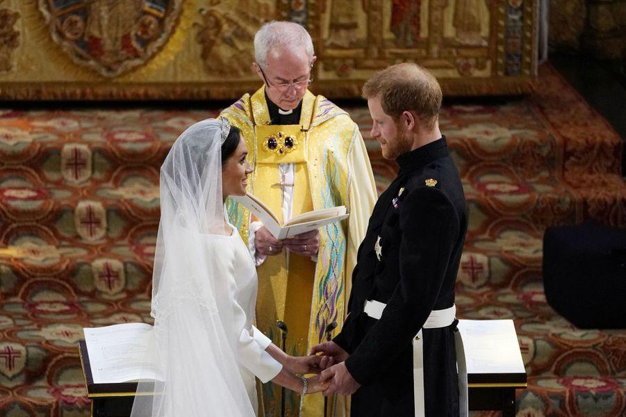 Meghan et Harry le jour de leur mariage à Windsor le 18 mai 2018