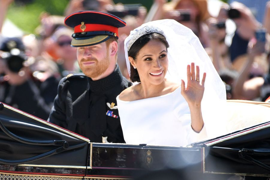 Meghan et Harryle jour de leur mariage à Windsor le 18 mai 2018