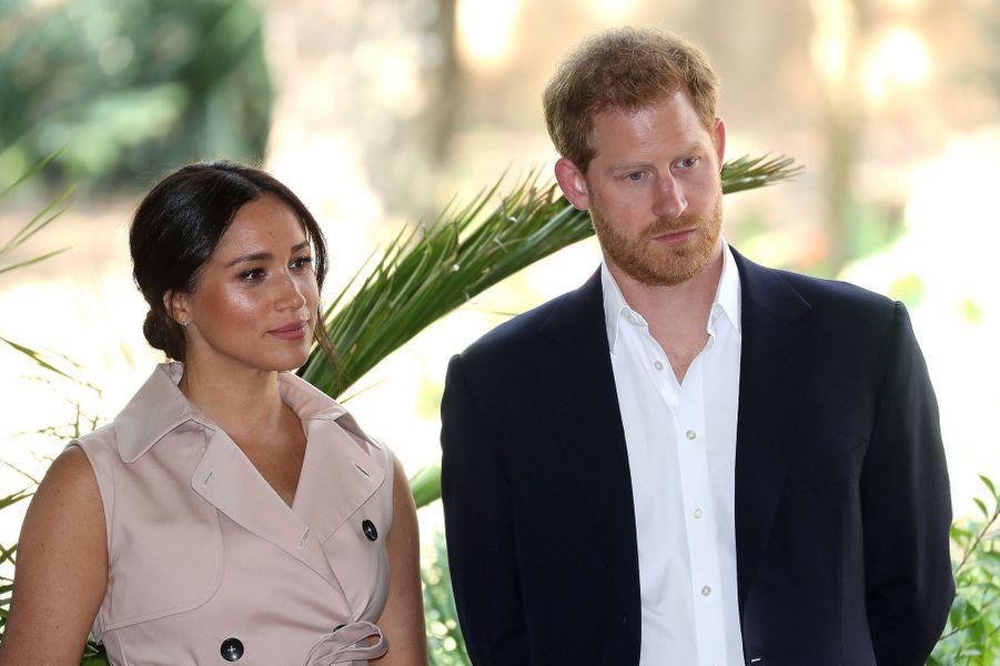 Meghan et Harry à Johannesburglors de leur voyage en Afrique du Sud le 2 octobre 2019. C'est lors de ce déplacement que les Sussex ont fait part de leur mal-être causé par les médias.