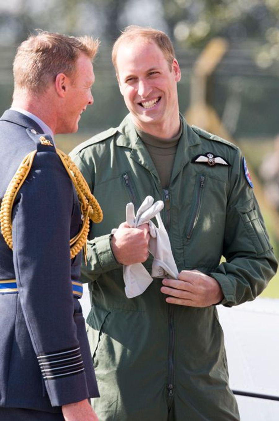 Le prince William sur la base aérienne Coningsby, le 22 septembre 2015