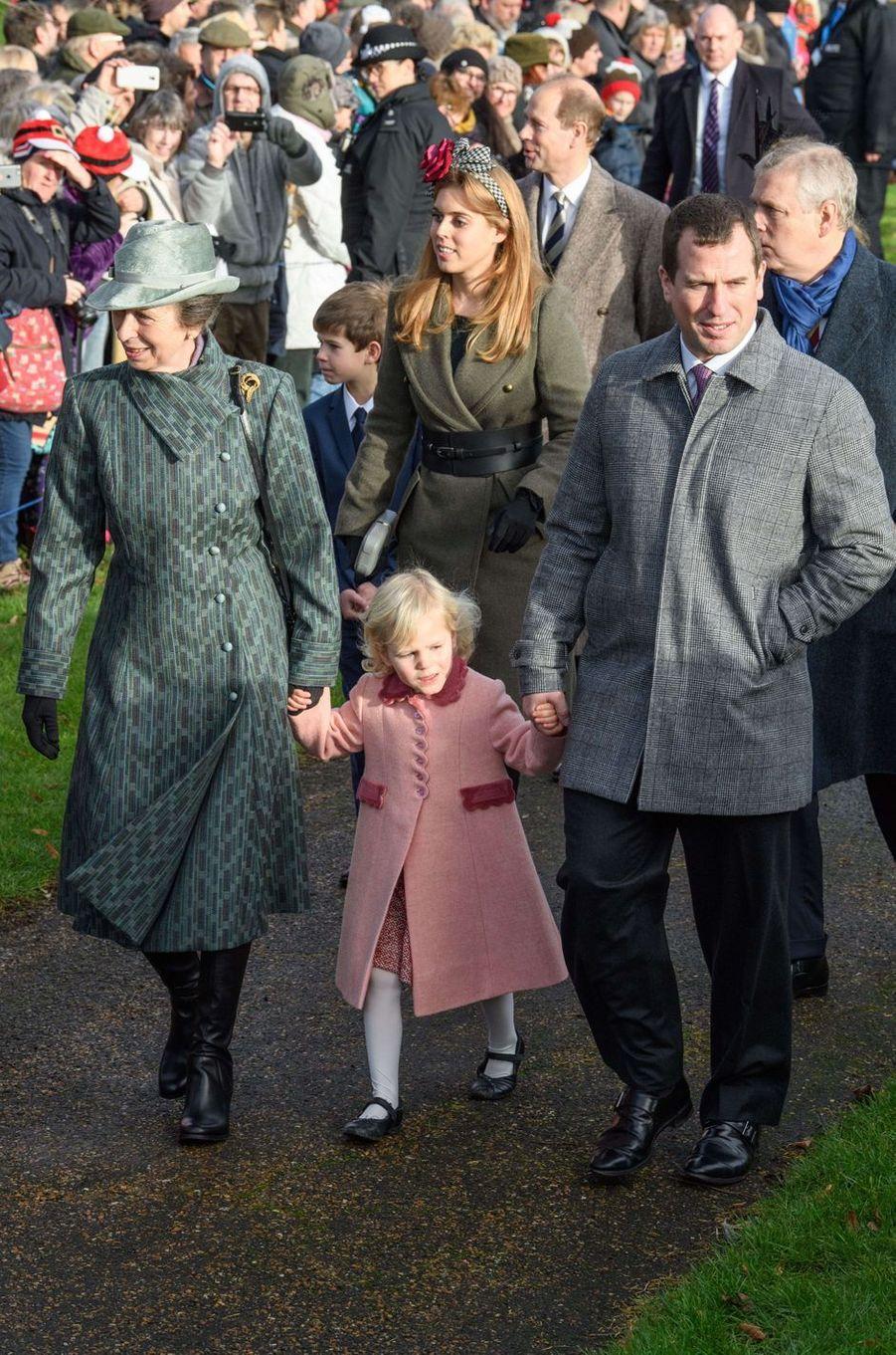 La famille royale britannique à Sandringham, le 25 décembre 2016