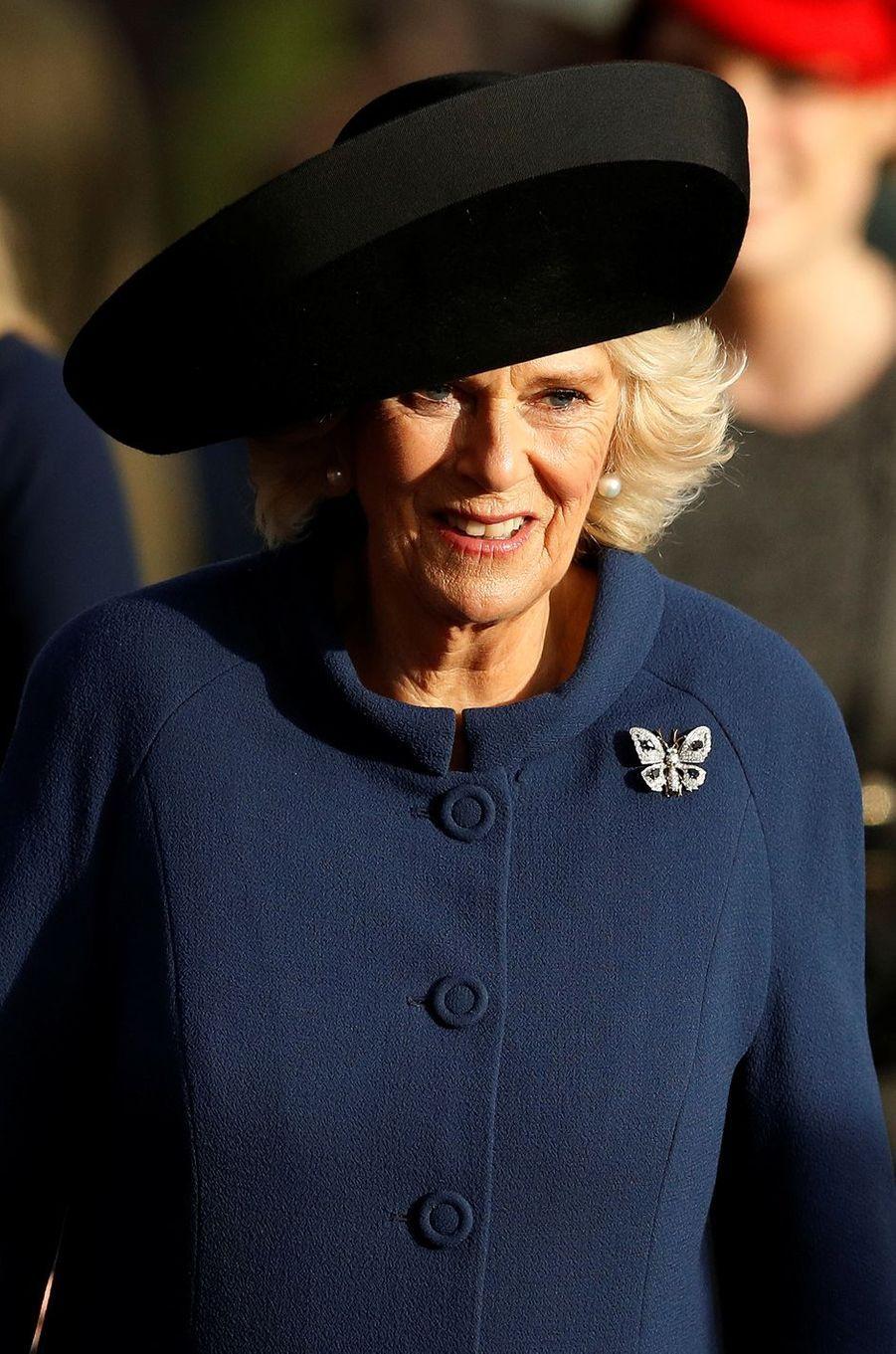 La duchesse de Cornouailles Camilla à Sandringham, le 25 décembre 2016