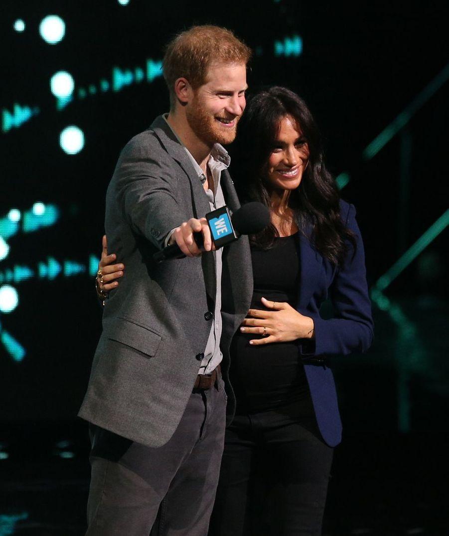 Le prince Harry et Meghan Markle à Wembley le 6 mars 2019 lors du WE Day UK