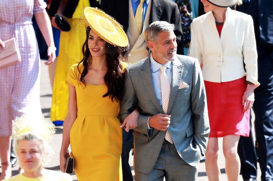 Amal et George Clooney au mariage du prince Harry et de Meghan Markle
