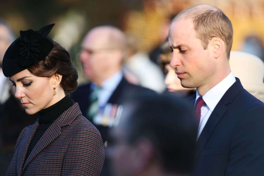 Apparition surprise de Kate Middleton et William à Sandringham