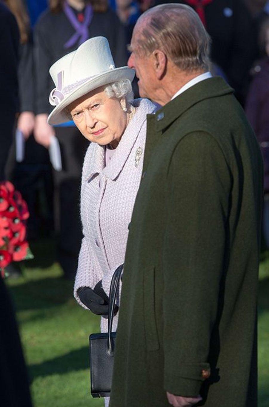 La reine Elizabeth II et le prince Philip à Sandringham