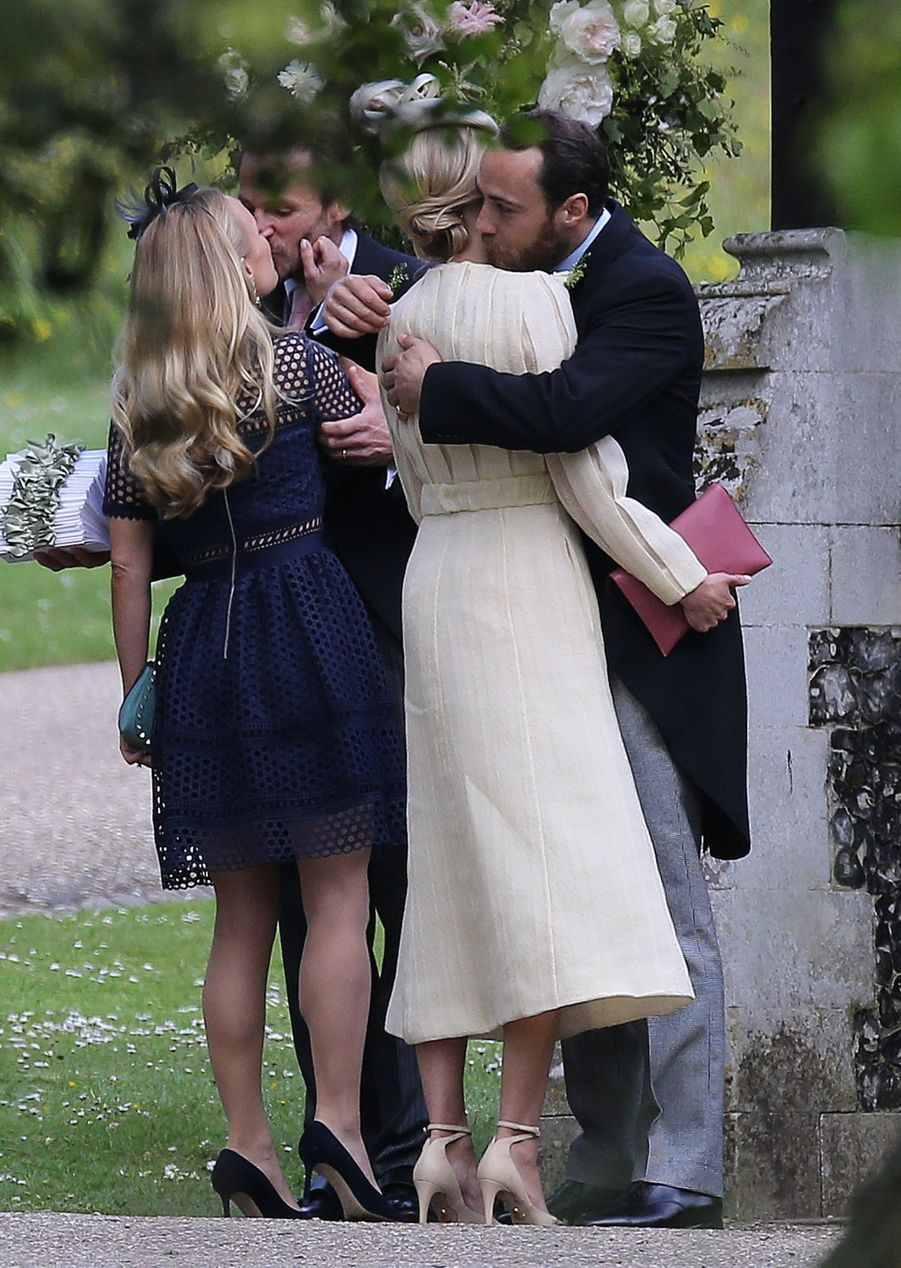 James Middleton et Donna Air au mariage de Pippa Middleton