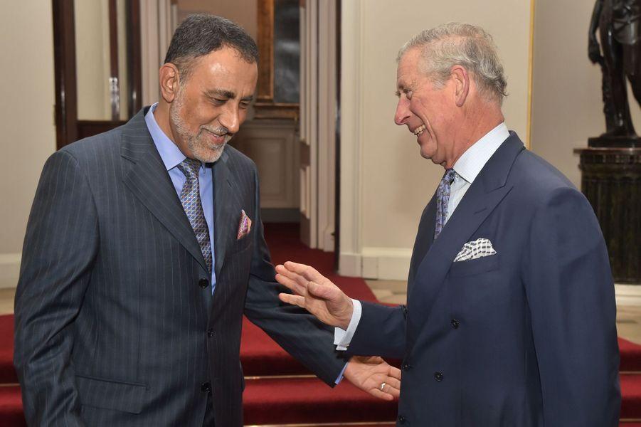 Le prince Charles à une réception de la société anglo-omanaise à Londres, le 27 janvier 2016