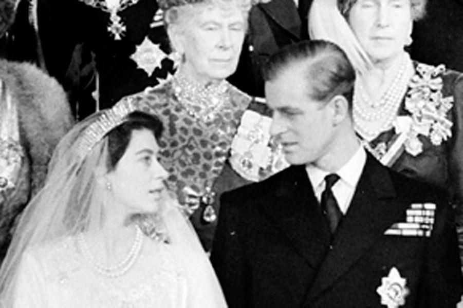 La princesse Elizabeth et le prince Philip, à Londres le 20 novembre 1947