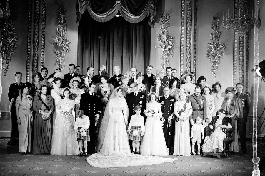 Le mariage de la princesse Elizabeth et du prince Philip, à Londres le 20 novembre 1947