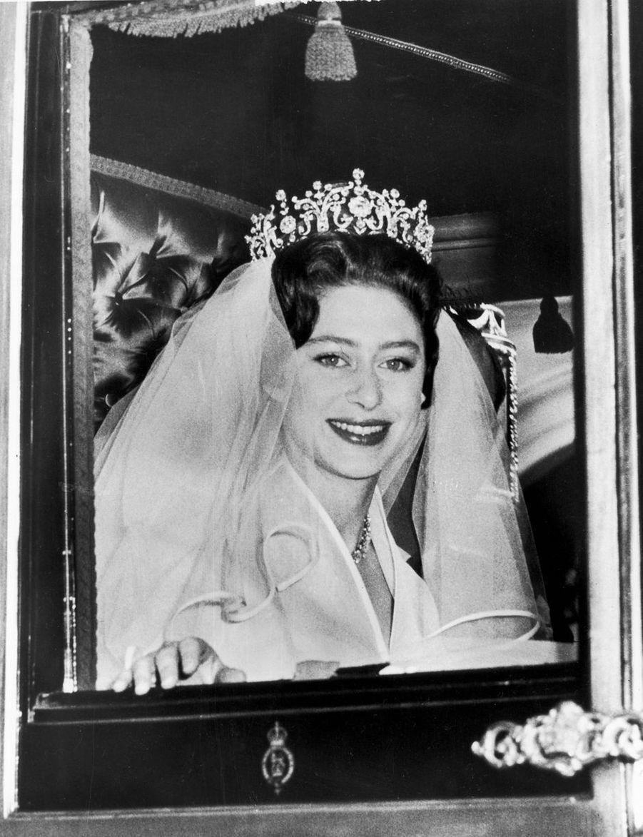 La princesse Margaret, le 6 mai 1960 jour de son mariage