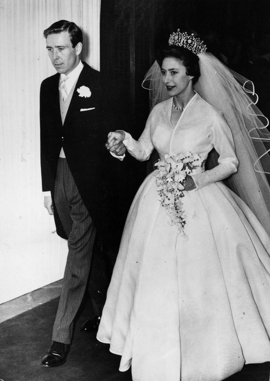 La princesse Margaret et Antony Armstrong-Jones, le 6 mai 1960 jour de leur mariage