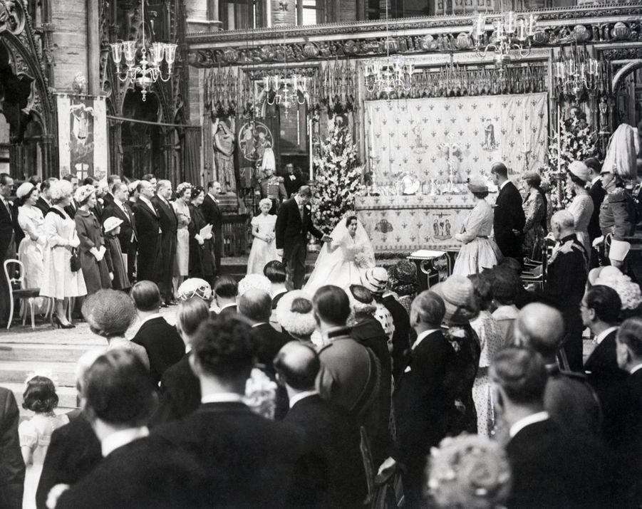 Mariage de la princesse Margaret d'Angleterre et d'Antony Armstrong-Jones, le 6 mai 1960